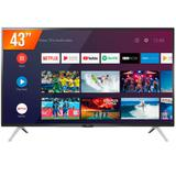 Smart TV LED 43'' Full HD Semp 43S5300 2 HDMI 1 USB Wi-Fi Android