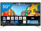 "Smart TV LED 50"" AOC 4K/Ultra HD LE50U7970S - Conversor Digital Wi-Fi 4 HDMI 2 USB"