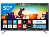 "Smart TV LED 50"" Philips 4K/Ultra HD 50PUG6513/78 - Conversor Digital Wi-Fi 3 HDMI 2 USB"