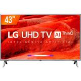 "Smart TV LED IPS 43"" Ultra HD 4K LG 43UM 751C ThinQ AI 4 HDMI 2 USB WiFi"
