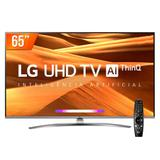 Smart TV LED PRO 65'' Ultra HD 4K LG 65UM 761 4 HDMI 2 USB Wi-fi Conversor Digital