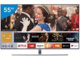 """Smart TV QLED 55"""" Samsung 4K/Ultra HD 55Q7FAM - Tizen Conversor Digital Wi-Fi 4 HDMI 3 USB"""