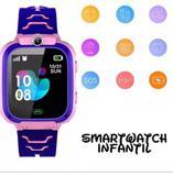 Smartwatch Relógio Infantil Escuta, GPS, SOS Roxo Mega - Smart watch