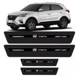 Soleira De Porta Platinum Hyundai Creta 2017 2018 Preto - Emblematech