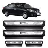 Soleira Porta Platinum Nissan Versa 2007 Á 2017 2018- Prata - Emblematech