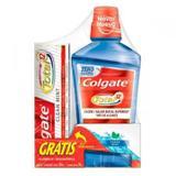 Solução Bucal Colgate Total 12 Clean Mint - 500mL + Grátis Creme Dental To - Colgate-palmolive ind e c