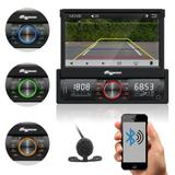 """Som Automotivo Quatro Rodas Retrátil 7.0"""" MTC6613, Bluetooth, USB, Câmera de Ré, Auxiliar, Touch Screen, Micro SD, Viva-voz e 25Wx4 - Aquarius"""
