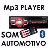 Som Automotivo Rádio Fm Mp3 Player C/ Bluetooth / Sd - Allcar