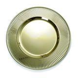 Sousplat com borda ouro metálico C/6 Unidades: 1616311 - Cromus