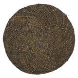Sousplat de fibra natural marrom 38cm x 38cm x 0,2cm - Btc decor