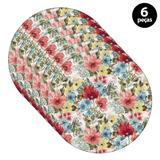 Sousplat Mdecore Floral 32x32cm Colorido