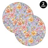 Sousplat Mdecore Floral 32x32cm Roxo
