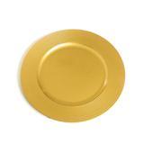 Sousplat redondo de plástico com glitter e borda listrada ouro c/6 Und: 1311655 - Cromus