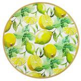 Sousplat redondo decorado limão siciliano 33 cm - da