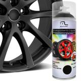 Spray Envelopamento Liquido Preto Fosco 400ml Multilaser Au420 Plástico Metal Lataria Rodas