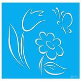 Stencil Acrilex  Floral 2    1140