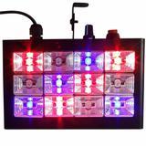 Strobo RGB Rítmico Alto brilho Luz Festas DJ com 12 Leds 15w - X zhang eletronicos