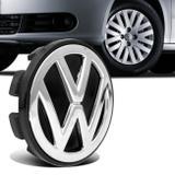 Sub Calota Centro Miolo de Roda Volkswagen 51mm Preto e Cromado - Emblemax