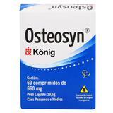 Suplemento Alimentar Cães Osteosyn Condroprotetor e Regenerador Osteo-Articular Condroitina Konig 60 comprimidos 660mg