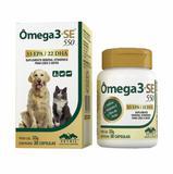 Suplemento Omega 3+SE 550 Cães e Gatos Vetnil 30 cápsulas