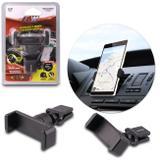 Suporte Universal Para Celular Smartphone GPS Grampo em Metal e ABS de Alta Resistência Preto - Sw