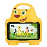 """Tablet DL Drop Kids Plus, Tela 7"""", 8GB, Câmera, Capa em Formato de Cachorro, Quad Core de 1.2 GHz"""
