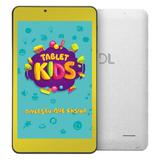 "Tablet DL Kids C10 - Tela 7"" Quad Core 8GB/1GB Android - Branco capa de silicone Bumper"