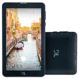 Tablet DL Mobi, 8GB, Dual Chip, 3G, Wi-Fi, Bluetooth, Preto - TX384