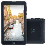 "Tablet DL Mobi Tab, 7"", 3G, Dual Chip, 8GB - Preto"