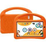 """Tablet DL PlayKids 8GB Tela 7"""" Intel Quad Core Wi-Fi Branco/Laranja - Capa com Alça"""