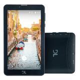"""Tablet DL Tab Fácil TX384 , Preto, Tela 7"""", 3G+Wi-Fi, Android 7, 8GB - Hdl"""