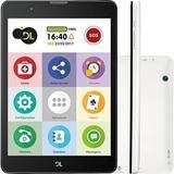 """Tablet DL TabFácil TX385BRA 8GB 3G WiFi Tela 7.85"""" e Câmera Branco"""