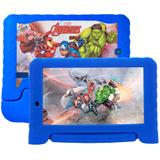 "Tablet Infantil Multilaser Marvel Vingadores, Android, 7"", Quad Core, 8GB, com Case Emborrachado"