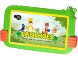 "Tablet Infantil Sabichões DL Kids TX386BVD Tela de 7"" Android 7 Nougat 8GB RAM 1GB RAM - Branco Com Capa de Sapo Verde"