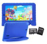 Tablet Kid Pad Infantil Azul Capa Emborrachada + Cartão 32gb - Multilaser