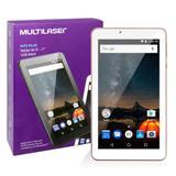 Tablet M7s Plus NB275 Multilaser Memória 8GB 7 Pol Wi-Fi Android 7 Quad Core Câmera 1GB Ram Rosa