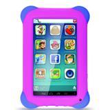 Tablet Multilaser Kid Pad NB195 7, Wi-Fi, 8 GB, Android 4.4, Câmera 2 MP, Preto com Capa Rosa