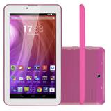 Tablet Multilaser M7 NB164 Android 4.4 8GB 3G WiFi Rosa Dual