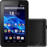 Tablet Multilaser M7S  3G  Wi-Fi Preto 8GB Tela 7 Android 4.4 Quad Core 1.2Ghz Câmera NB184