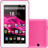 "Tablet Multilaser M7S 8GB Wi-Fi Tela 7"" Android 4.4 Quad Core - Rosa"