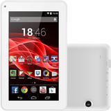 Tablet Multilaser ML Supra, 8GB Wi-Fi Tela de 7 Android 4.4 Quad Core, Câmera - NB200 - Branco