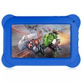 "Tablet Multilaser Vingadores Quad Core Android 4.4 Dual Cam 1.3/2Mp 7"" 8gb NB240"