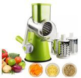 Tabletop Cortador Ralador Fatiador Legumes 3 Laminas Verduras Alimentos Variados - Alcateia