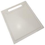 Tábua de Cozinha para Corte em Polietileno Solrac - Branco / 24 Cm