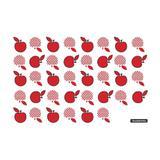 Tábua de vidro temperado retangular vermelho 30 x 20 cm - Tramontina
