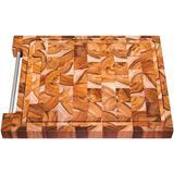 Tabua Quadrada para Churrasco de Madeira Invertida Teca Tramontina 10102050