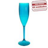 Taça Champanhe Durável Azul Tiffany 150ml 60 unidades Bezavel - Festabox