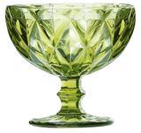 Taça de Sobremesa Coquetel Diamante Verde 300ml - Class home
