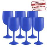 Taça de Vinho Durável Azul Bic 290ml 6 unidades Bezavel - Festabox