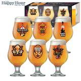 Taças de Cerveja Beer Rock - 6 unidades 380 ml - Ruvolo